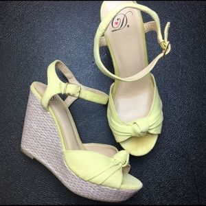 Shoes - Yellow Wedges